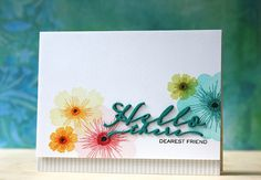Hello There Card by Laura Bassen for Papertrey Ink (June 2015)