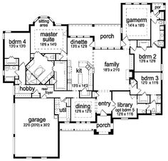 Essentially Honey S House With An Extra Bedroom By The Master First Floor Plan Of European Tudor 88661