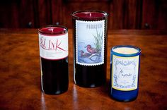 cupcake wine candle