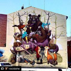 #Repost @rocidohe  El artista @dulk1 visitó #Zaragoza el año pasado y su obra fue considerada una de las mejores del mundo no tenéis curiosidad en saber quiénes son los artistas que vendrán este año? #art #streetart #festival #culturaenverano #graffiti #zgz #summer
