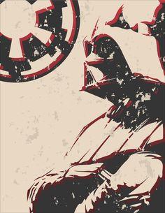 Darth Vader Poster, by Hunter Allison  http://www.behance.net/HunterAllison