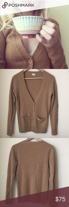 J.Crew 100% cashmere cardigan Very soft and warm 100% genuine Italian cashmere • worn a few times but no signs of wear • two small front pockets • sleeves are nice and long with thicker cuffs • stored with cedar planks to prevent moth holes • J. Crew Sweaters Cardigans
