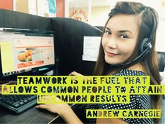 Team Work at a Philippine Call Center is very important. It is the job of the Team Leader to motivate and set a good example to the rest of the team members so they'll work better. After all, feedback whether positive or negative will reflect on the entire team. #TeamWork #Career #CallCenterOutsourcing #PhilippineCallCenter #CallCenterServices #Outsourcing #CallCenterPhilippines #CustServ #CustomerService