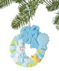Look what I found on #zulily! Blue 'Baby's 1st Christmas' Personalized Ornament by Treasured Ornaments #zulilyfinds
