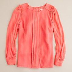 silk pintuck blouse