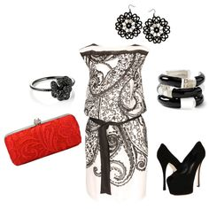 black & white, created by rap140 on Polyvore