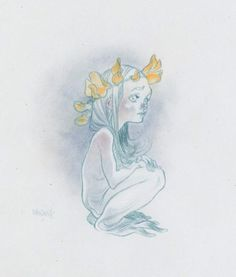 By Claire Wendling.  It's like the true form of a French person.