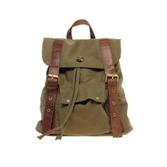 ASOS Canvas Backpack With Contrast Straps - The earthy colors of a forest - mossy green and tree trunk brown - come alive and make this ASOS Canvas Backpack With Contrast Stripes perfect for any nature lover. Whether you're taking it on a camping adventure in the great outdoors or just displaying your laid-back personality on your morning commute, this bag is stylish and roomy enough for all of your important possessions. - Found at myWebRoom.com