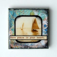 Have peace in your heart  3x3 Tile Magnet by BiscottiDesigns, $10.00