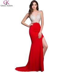 This item is HOT! Grace Karin Long ... click 2 order  http://i-saledresses.myshopify.com/products/grace-karin-long-mermaid-prom-dresses-beaded-sequin-backless-sleeveless-high-slit-v-neck-red-formal-gowns-sexy-party-dress-prom?utm_campaign=social_autopilot&utm_source=pin&utm_medium=pin   We Ship Internationally!
