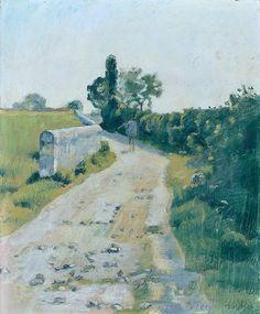 Ferdinand Hodler (Swiss, 1853 - 1918)  Sunny little road (Sonniges Strässchen), 1890  Kunsthaus Zürich, Germany