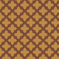 Lattice in Marigold (Camelot Cottons House Designer - Black and Tan)