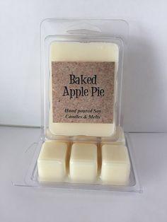 Bake Apple Pie Natural Soy Wax Melt/ Tart by PottersCurveCandles