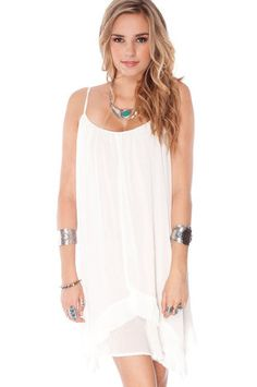 Edgy Pleated Dress in White $