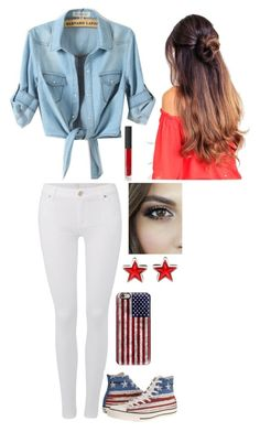 """Stars and Stripes"" by awesomel4125 on Polyvore featuring 7 For All Mankind, Converse, Casetify, Givenchy and NARS Cosmetics"