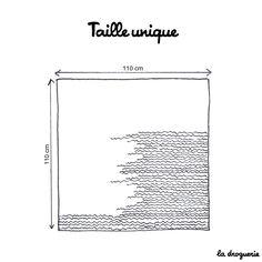 """Le châle carré """"Barbizon"""" - La droguerie"""
