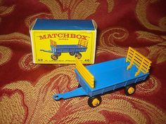 VINTAGE LESNEY MATCHBOX #40 HAY TRAILER MINT IN BOX CLASSIC TOYS - http://www.matchbox-lesney.com/?p=16998