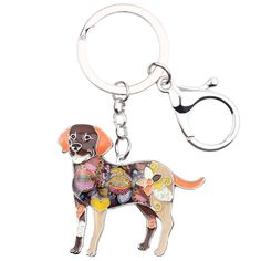 Labradors have the ability to light up life with their spunky personalities and constant happiness. Take your lab with you wherever you go with this colorful Labrador keychain. Funny Dogs, Cute Dogs, Mamas And Papas, Cat Supplies, Westies, Little Dogs, Key Rings, Chihuahua, French Bulldog