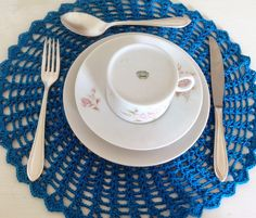 Tecendo Artes em Crochet: Sousplat de Crochê Estão com Tudo!