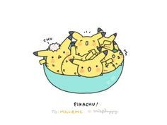 feeling sad? here. have a bowl of pikachu to cheer you up :)