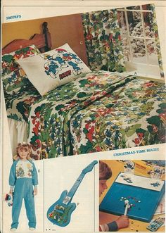 We had the exact Smurfs bedding on our bunk bed. Ah, memories... | 9 Awesomely '80s Kids Bedrooms