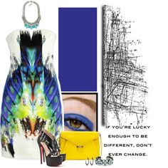 """Rafe """"Angeline"""" yellow envelope clutch in a set titled: A diamond in the rough..... by becksd78 on Polyvore"""