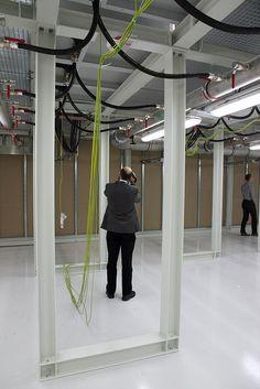 "1st Rack floor of fully water cooled DC ""Mini Cube""  http://datacenter.eco.de/2012/06/10/leistungsdichte/"