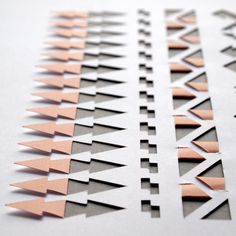 Image of sarah louise matthews - Geometric Aztec Papercut Origami Lamp, Origami Paper, Paper Architecture, Paper Artwork, Weaving Projects, Paper Folding, Fabric Manipulation, Kirigami, Bookbinding