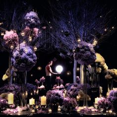 Purple wedding flowers by Jeff Leatham