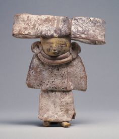 3/ TEOTIHUACAN - Standing woman with a wide headdress, Princeton University Art Museum