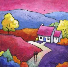Shepherd's Delight by Gillian Mowbray | Art: Gillian Mowbray ... Love the light on the hills