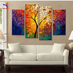 decorative gift wrap paper Picture - More Detailed Picture about Bright Life Tree Picture Painting Handmade Modern Abstract Oil Painting on Canvas Wall Art Home Decoration Gift No Framed Picture in Painting & Calligraphy from TBM Art Decoration Stor Abstract Pictures, Art Mural, Oil Painting Abstract, Oil Paintings, Painting Art, Art Oil, Painting Inspiration, Canvas Wall Art, Modern Art