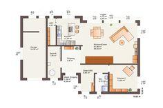 Bauhaus Fine Arts 223 mit Flachdach von Bärenhaus Bauhaus, Floor Plans, Fine Art, Garage, Houses, Modern Townhouse, House Construction Plan, Ground Floor, Detached House