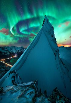 Svolvaer, Norway >>> Is that the grinch I see up there??? :)