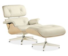 Eames® Leather Lounge Chair & Ottoman in White Ash - Chairs - Living - Room & Board (dreeeeam chair!!!)