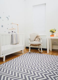 Project Nursery - White and Gray Girl's Nursery by Homepolish