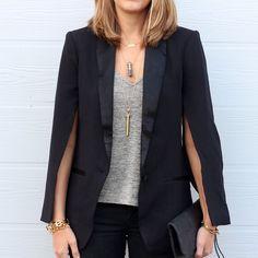 Today's Everyday Fashion: Cape Blazer