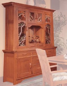 Greene & Greene reproduction china hutch from the Gamble House in Pasadena = stuff of dreams