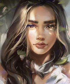 Image in Character illustration collection by Jung Kyung-Soon Digital Art Girl, Digital Portrait, Cartoon Girl Drawing, Girl Cartoon, Character Portraits, Character Art, Cartoon Kunst, Fantasy Kunst, Cartoon Art Styles