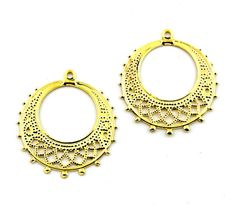 68pcs 25mm 16mm Gold Plated Thin filigree by FancyGemsandFindings, $4.95