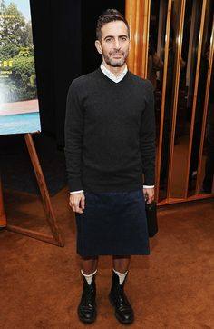 All the Times Marc Jacobs Wore a Skirt Better Than Me via @WhoWhatWear