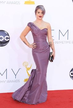 TV personality Kelly Osbourne arrives at the 64th /#PrimetimeEmmy Awards at the Nokia Theatre on Sunday, Sept. 23, 2012, in Los Angeles.