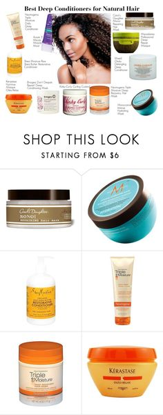 """Best Deep Conditioners for Natural Hair"" by aemun-ahmad ❤ liked on Polyvore featuring beauty, Carol's Daughter, Moroccanoil, Neutrogena, Kinky-Curly, Kerastase and Briogeo"
