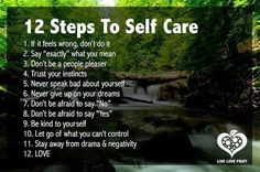 12 steps to healthy self care.