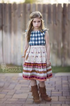 Dress by Because of Brenna; Violette Field Threads PDF pattern; Matilda; Fabric by Art Gallery Fabrics; Wild and Free; Maureen Cracknell; #BecauseofBrenna #VFT #VioletteFieldThreads #ArtGalleryFabrics