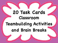 This is a collection of quick teambuilding activities and brain breaks for the classroom.  They range in time from 2-10 minutes.  Some of the teamb...