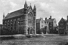 Old Postcard, Cambridge University, Selwyn College