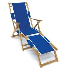 Frankford Umbrella Commercial Oak Wood Beach Chairs Pacific Blue - FC101NF-PBA, Durable
