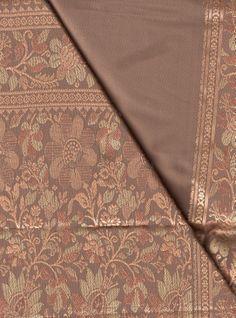 BIN 4 Silk sari, Jaipur, 6.20 m x 110 cm, mocha
