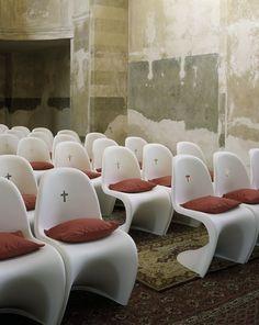 Chairs- Verner Panton- St Bartholomew church